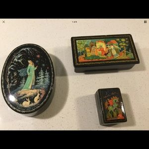 Authentic Russian lacquer boxes